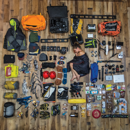 The things they carry renan ozturk 39 s expedition filmmaking setup pdn online for Travel expedition gear