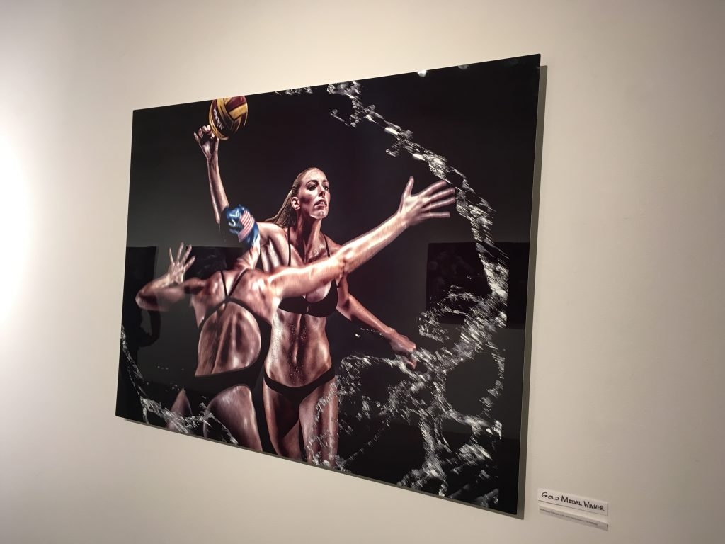 Gray's work—printed using Vibrachrome—on display at the Elga Wimmer PCC gallery. Photo © Jessica Gordon