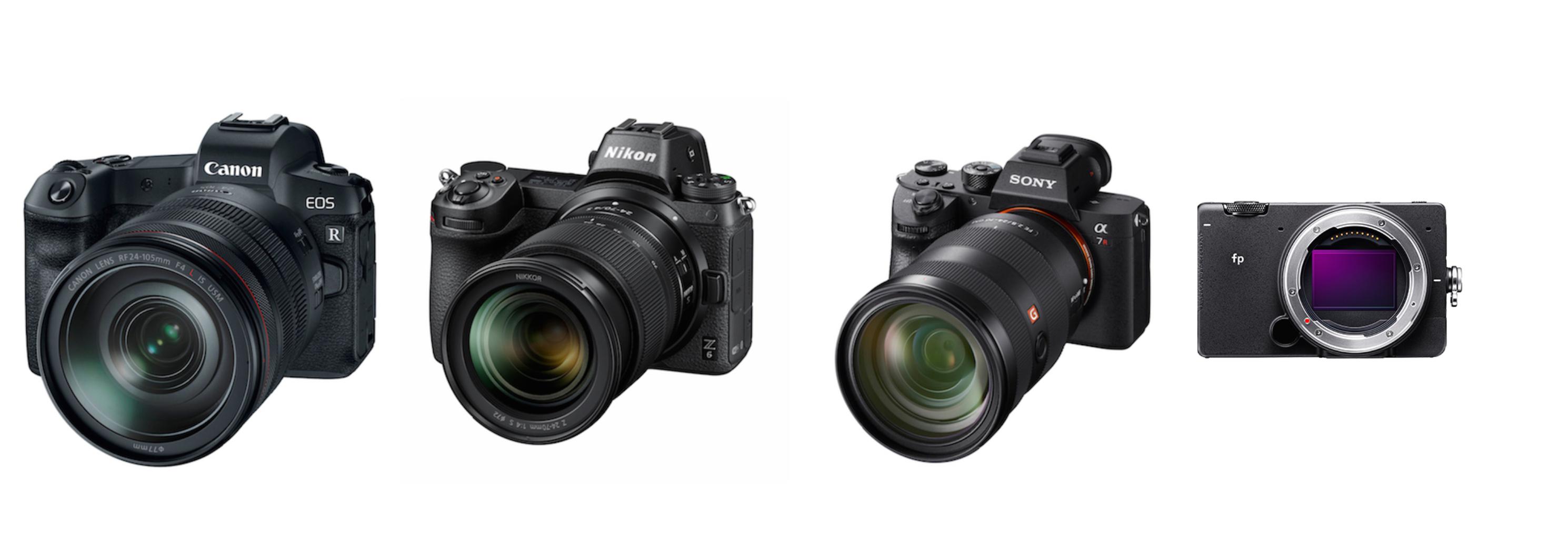 Nikon Z7 vs  Sony a7R III vs  Canon EOS R vs  Sigma fp