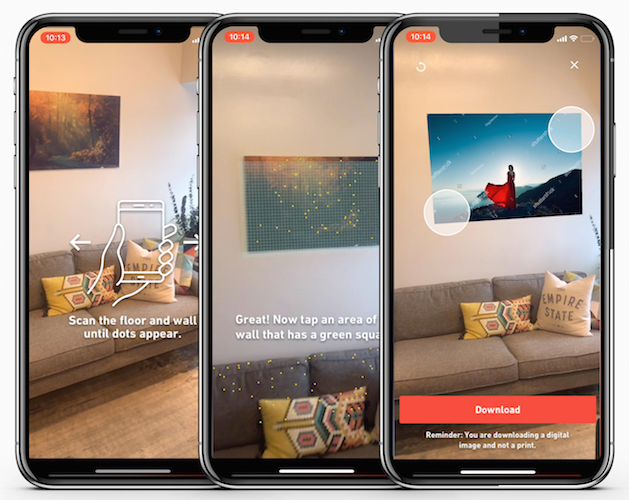 Shutterstock's New Augmented Reality Tool Places Photos on Walls